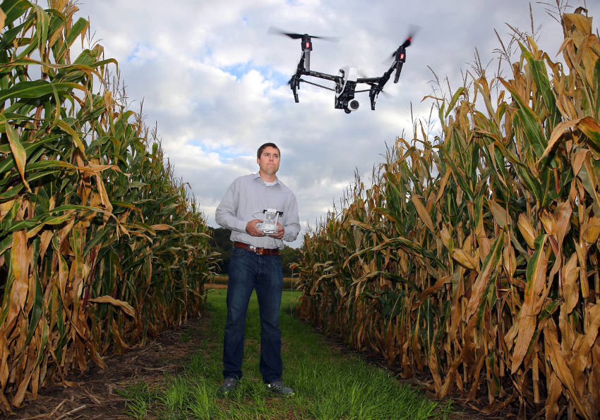 Drones for farming overwatch
